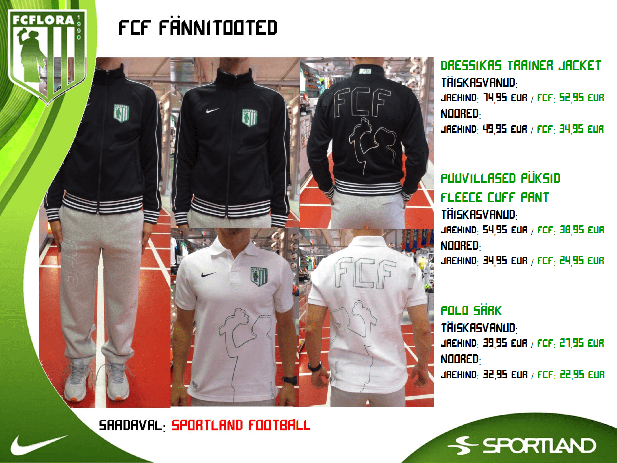 FC Flora fännitooted A
