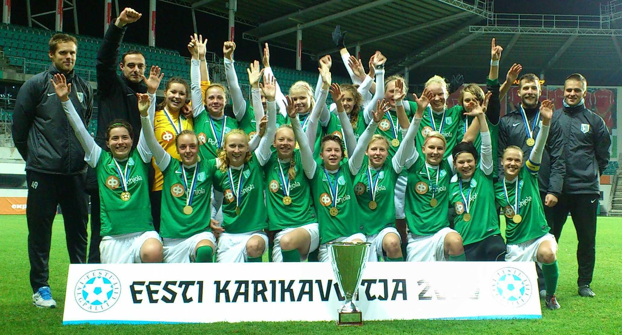 FC Flora naiskond Eesti karikavõitja 2013