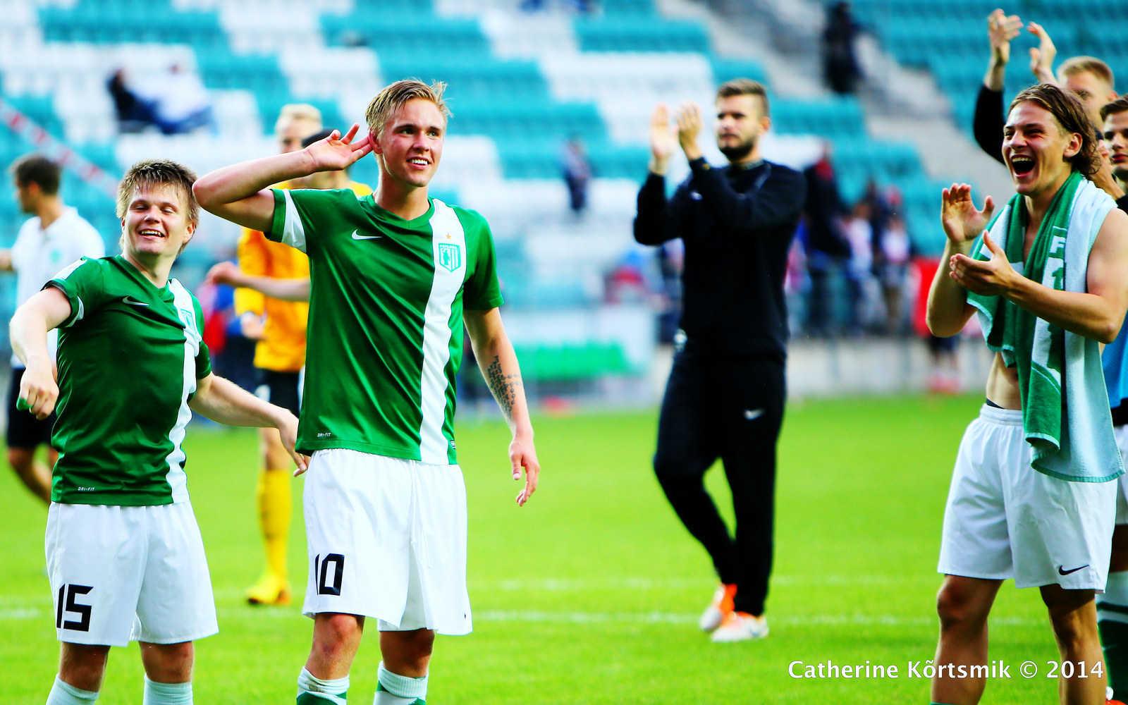 FC Flora pärast võitu Nõmme Kalju üle