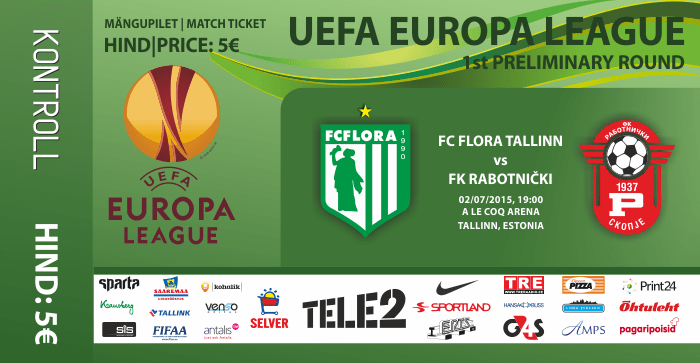 FC Flora - FK Rabotnički pilet