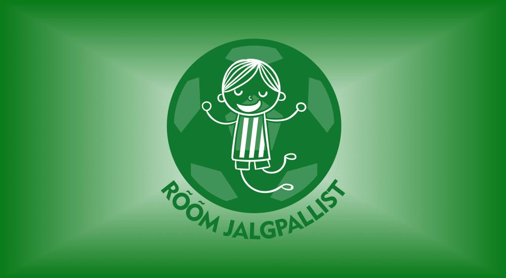 rõõm jalgpallist taustaga logo
