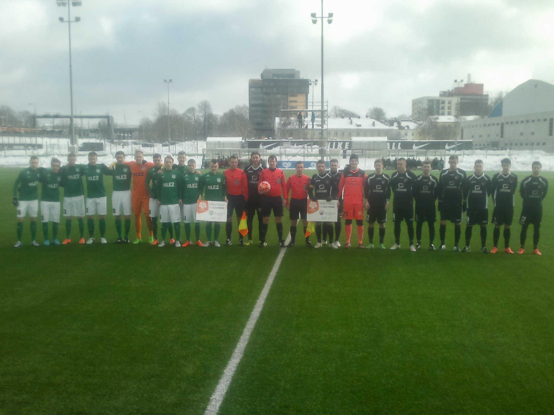 U21 vs Infonet II Esiliiga avavoorus 27. veebruaril