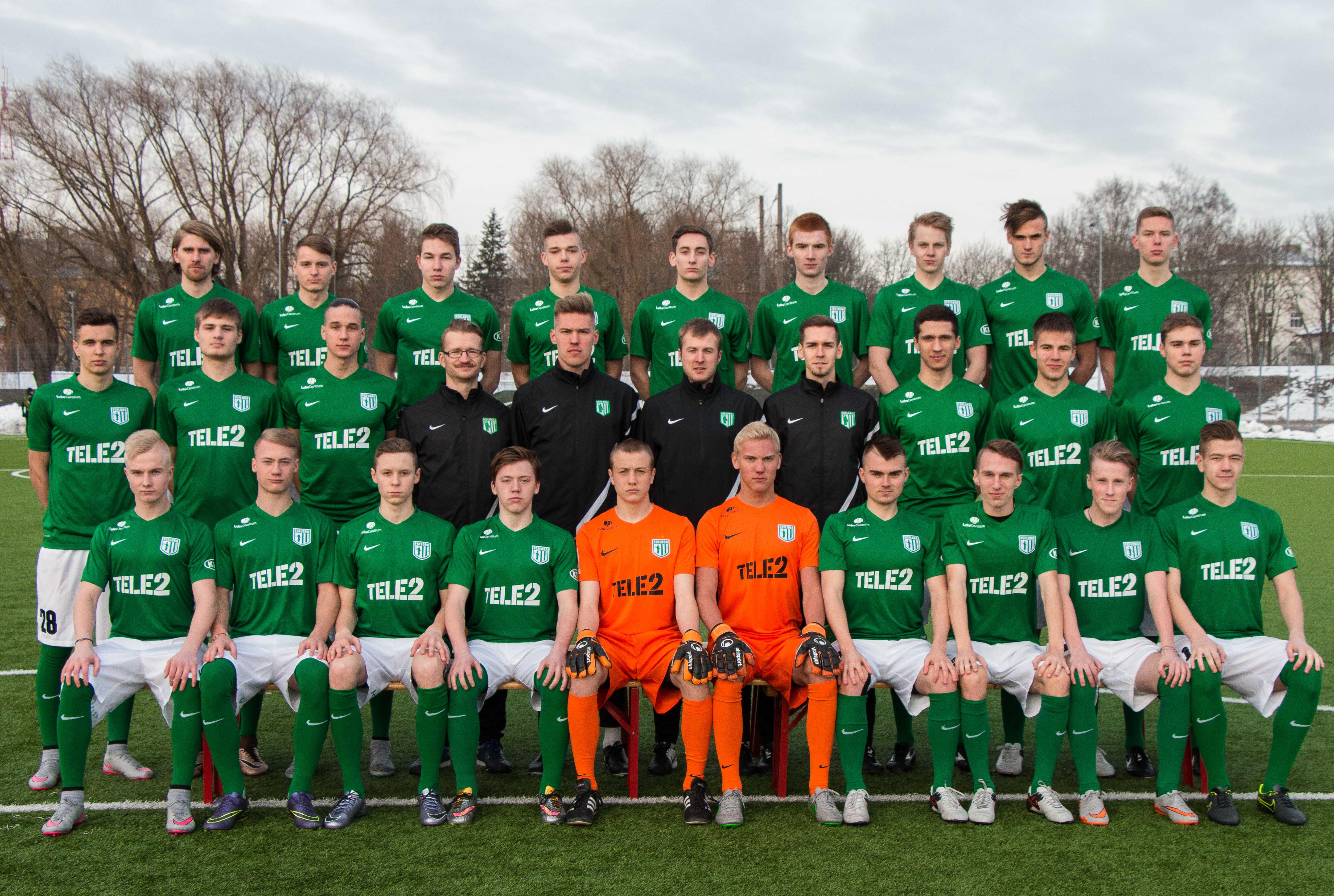 FC Flora U21 meeskond 2016 hooajal