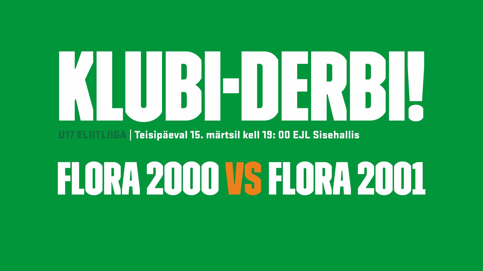 U17 Eliitliiga Flora 2000 vs Flora 2001