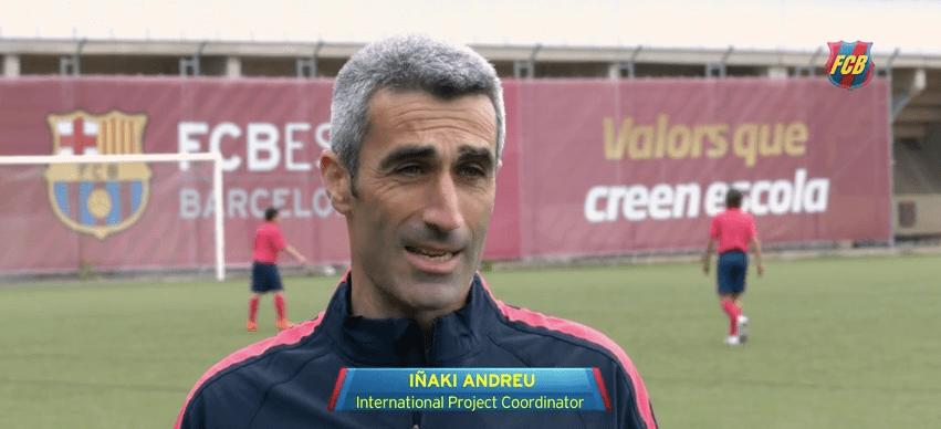 Iñaki Andreu, FCBEscola koordinaator