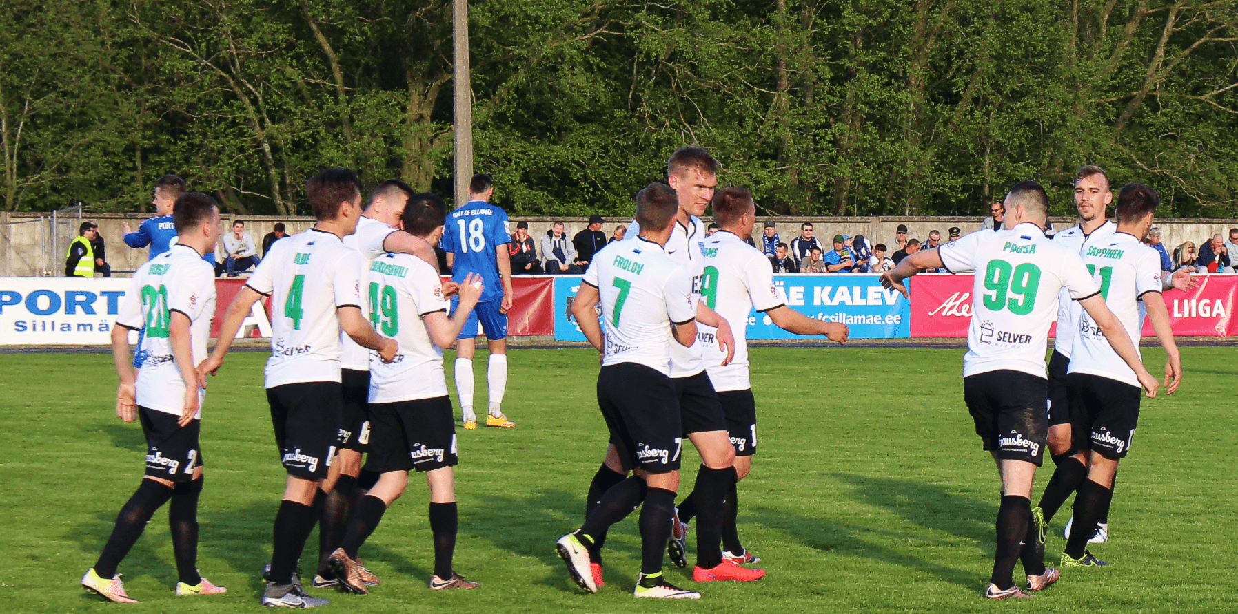 Sillamäe Kalev vs FC Flora, Premium Liiga XII voor, 13.05.2016