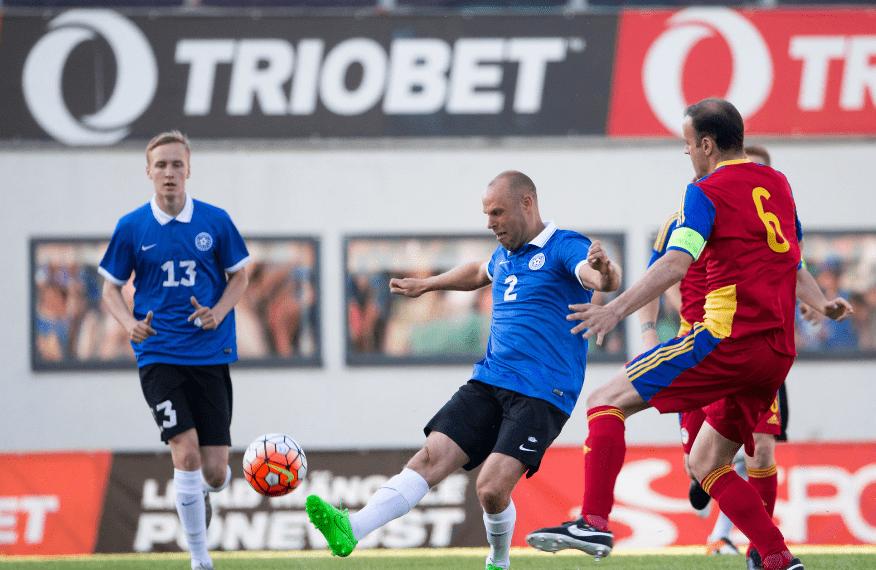 Jan Kokla ja Joel Lindpere, 1. juuni 2016 Eesti-Andorra 2-0. Foto: Tairo Lutter / POSTIMEES