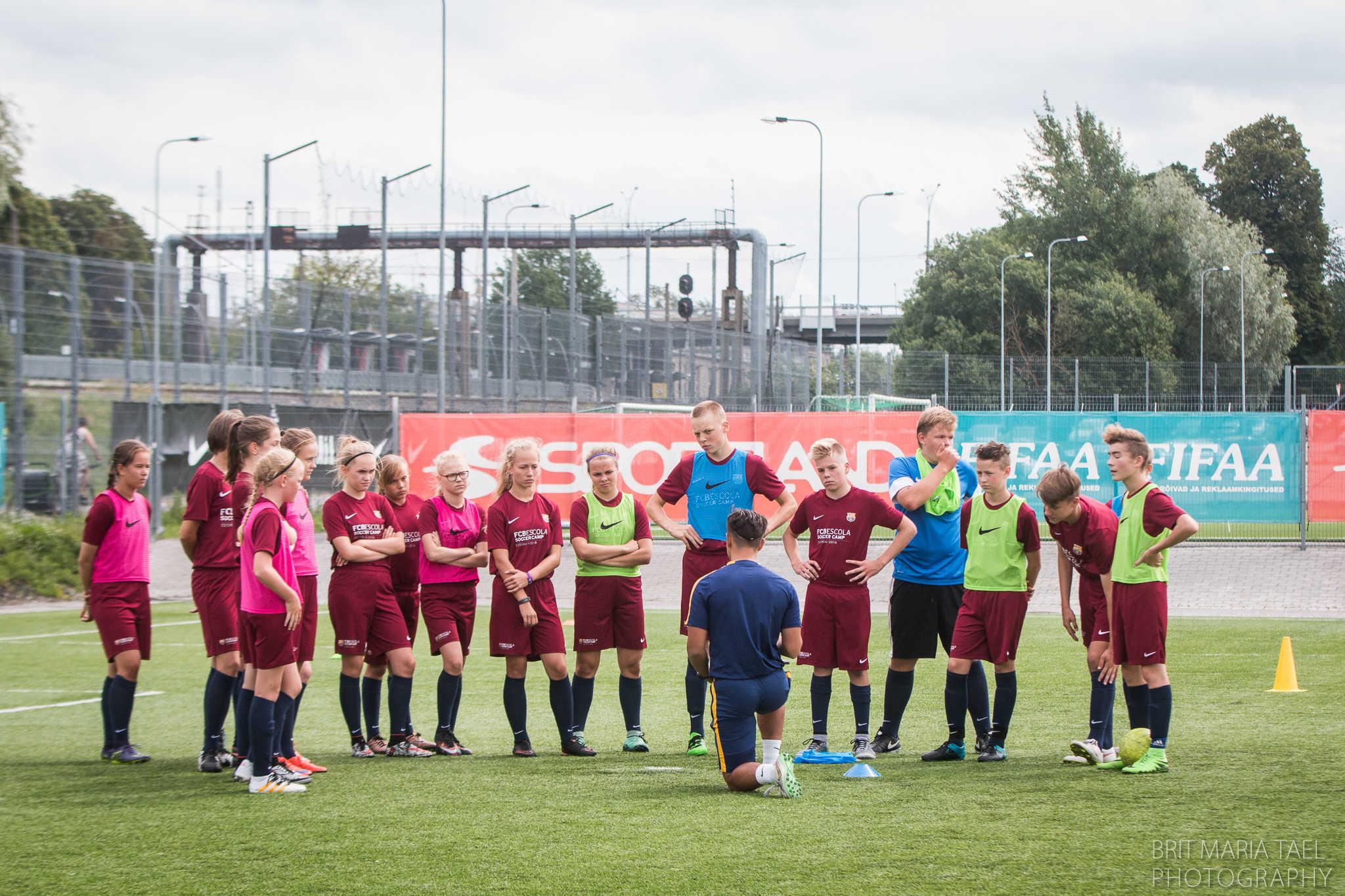 FC Barcelona laager Tallinnas, 11. juuli 2016. Foto: Brit Maria Tael.