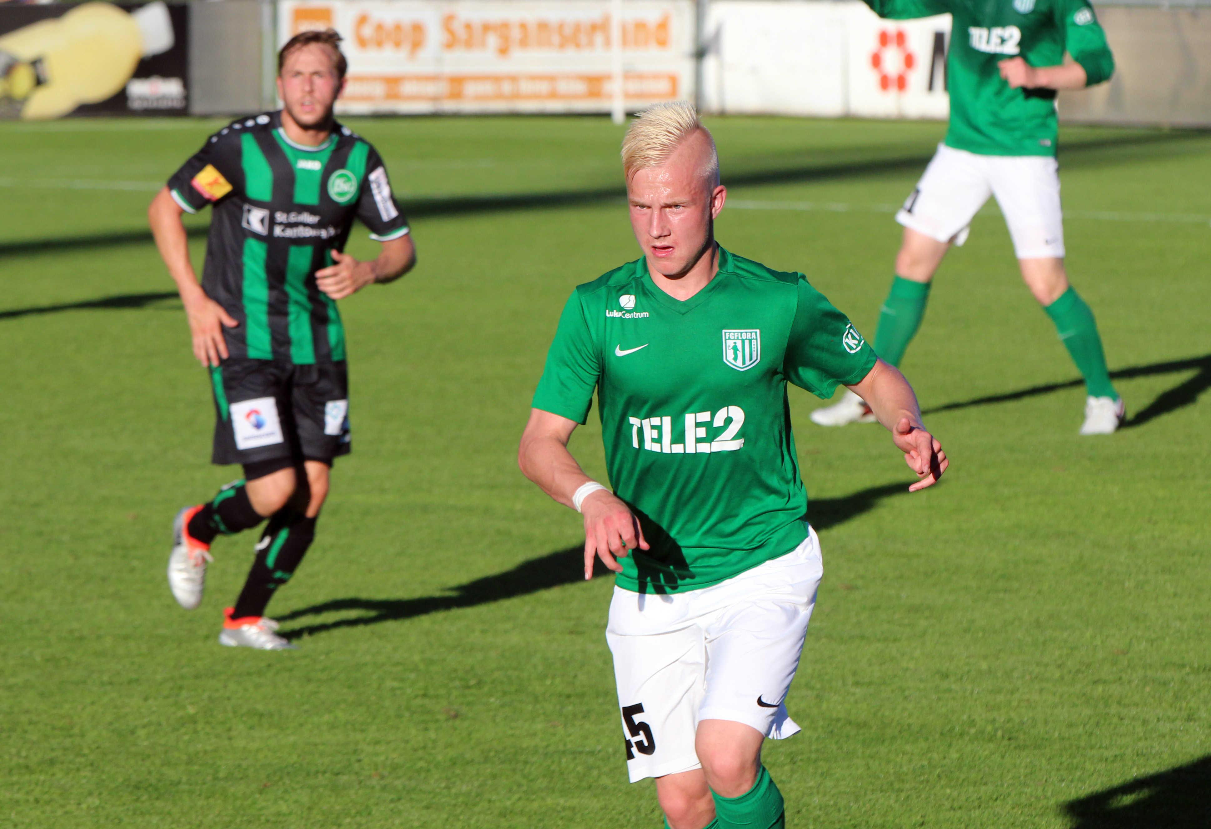Henri Järvelaid treeningkohtumises Šveitsi kõrgliigaklubi St.Galleni vastu