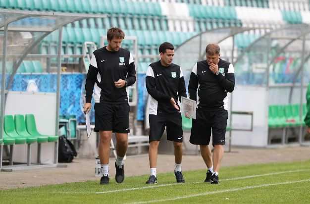 FC Flora treenerid Aiko Orgla, Gabri Garcia Xatart ja Argo Arbeiter