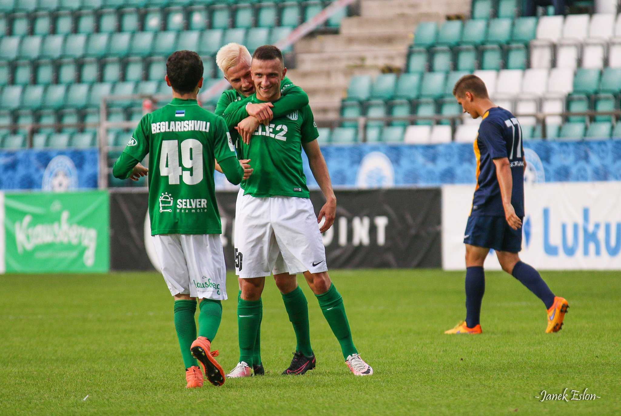 Zakaria Beglarishvili, Henri Järvelaid ja Maksim Gussev vs Narva Trans 6.augustil 2016